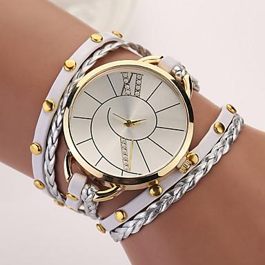Mulheres Bracele Relógio Relógio de Moda Quartzo Punk PU Banda Boêmio Elegant Cores Múltiplas