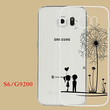 Para Samsung Galaxy Capinhas Case Tampa Transparente Com Relevo Capa Traseira Capinha dandelion PUT para Samsung S6