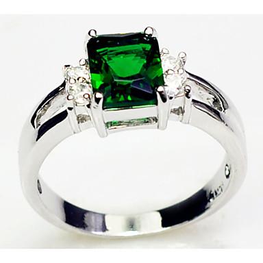 Feminino Anéis Grossos bijuterias Zircão Gema Jóias Para Casamento Festa Diário Casual Esportes