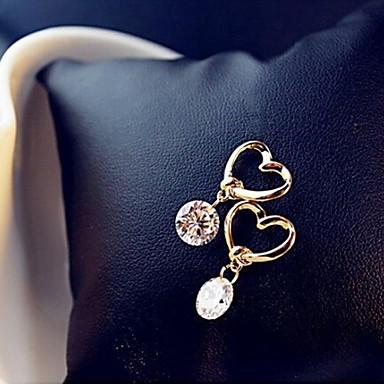 Жен. Серьги-слезки - Сердце Классический, Мода Золотой Назначение Для вечеринок Повседневные