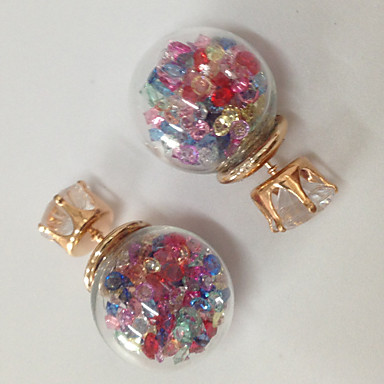 Oorknopjes Hars Glas Sieraden Roze Donker paars Bruiloft Feest Dagelijks Causaal Sport Kostuum juwelen
