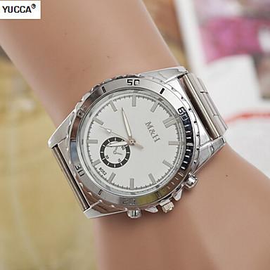 Heren Dress horloge Kwarts Zwitsers Designer Legering Band Zilver