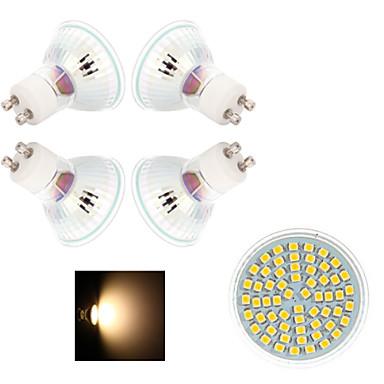 GU10 LED Σποτάκια 60 SMD 3528 200-300 lm Θερμό Λευκό Ψυχρό Λευκό 2800-3500/6000-6500 κ AC 220-240 V