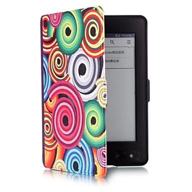 6 inch schelp patroon pu lederen tas met magnetische gesp voor Amazon Kindle Paperwhite