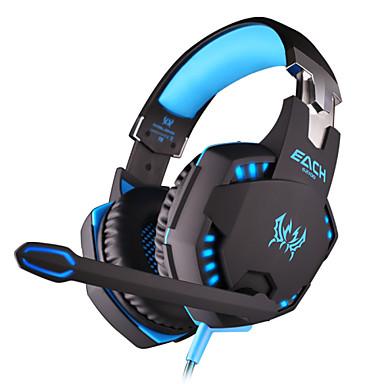 KOTION EACH Sobre o ouvido / Bandana Com Fio Fones Plástico Games Fone de ouvido Com controle de volume / Com Microfone / Isolamento de