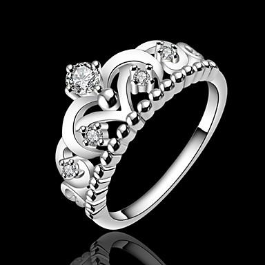 Feminino Maxi anel bijuterias Prata Chapeada Jóias Para Casamento Festa Diário Casual Esportes