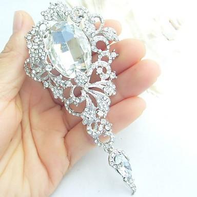 αξεσουάρ γάμου ασήμι-Ήχος σαφές rhinestone νυφικό κρύσταλλο καρφίτσα κοσμήματα γάμου διακόσμηση καρφίτσα μπουκέτο