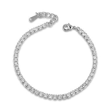 Kristal Schattig 1pc Armbanden met ketting en sluiting - Feest Werk Informeel Zilver Goud Rose Armbanden Voor