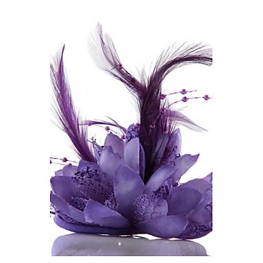 Σιφόν Κρύσταλλο Απομίμηση Μαργαριταριού Δαντέλα Ύφασμα Τιάρες Γοητευτικά Λουλούδια Καπέλα Στεφάνια 1 Γάμου Ειδική Περίσταση Πάρτι / Βράδυ