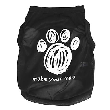 Γάτα Σκύλος Φανέλα Ρούχα για σκύλους Γράμμα & Αριθμός Μαύρο Τριανταφυλλί Πράσινο Μπλε Ροζ Τερυλίνη Στολές Για κατοικίδια Ανδρικά Γυναικεία