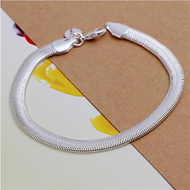 Heren Dames Armbanden met ketting en sluiting Modieus Sterling zilver Slang Geometrische vorm Sieraden Bruiloft Feest Dagelijks Causaal