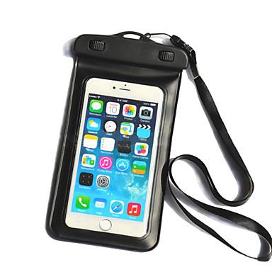 Capinha Para iPhone 6s Plus iPhone 6 Plus Universal Impermeável com Visor Bolsa Côr Sólida Macia PC para