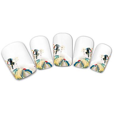 Etiquetas de unhas 3D Modelo de estampa de unhas Diário Fashion Adorável Alta qualidade