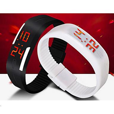 남성용 손목 시계 스포츠 시계 디지털 달력 LED 실리콘 밴드 블랙 화이트 블루 레드 오렌지 브라운 그린 그레이 핑크 퍼플 로즈