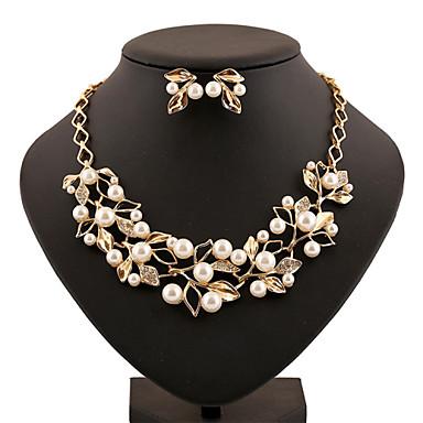 Γυναικεία Σετ Κοσμημάτων Απομίμηση Μαργαριταριού Στρας Κράμα Βίντατζ Χαριτωμένο Πάρτι Γραφείο Καθημερινό Κοσμήματα με στυλ Μοντέρνα