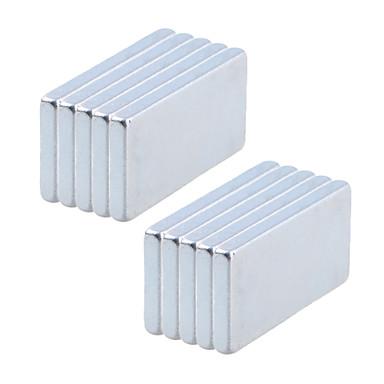 Magnetisch speelgoed Bouwblokken / Neodymium magneet / Superkrachtige Rare-Earth magneten 10pcs 20*10*2mm Magneet Magnetisch Volwassenen