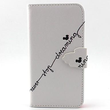 Para Samsung Galaxy Capinhas Porta-Cartão / Com Suporte / Flip / Magnética / Estampada Capinha Corpo Inteiro Capinha Palavra / FraseCouro