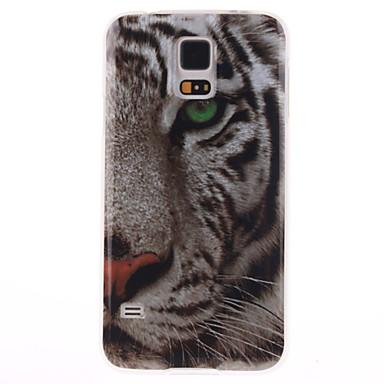 Para Samsung Galaxy Capinhas IMD Capinha Capa Traseira Capinha Animal TPU Samsung S5