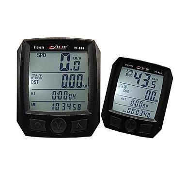 Bicicleta De Montanha/BTT Computador de Bicicleta Tempo - Tempo Decorrido Preta PVC