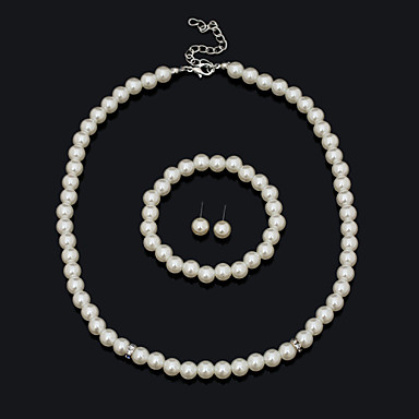 Dames Sieraden set Armband Oorbellen Kettingen - Vintage Schattig Feest Werk Informeel Statement Modieus Europees Sierstenen Wit Sieraden