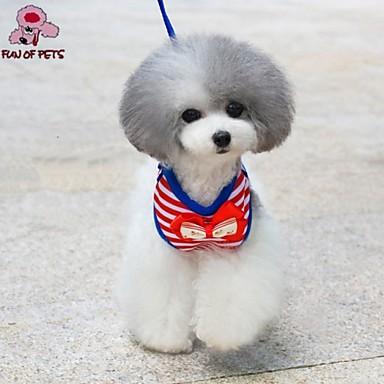 Γάτα Σκύλος Εξαρτύσεις Προσαρμόσιμη / Τηλεσκοπικό Νάιλον Κόκκινο Μπλε