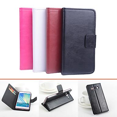 tok Για Samsung Galaxy Samsung Galaxy Θήκη Θήκη καρτών με βάση στήριξης Ανοιγόμενη Μαγνητική Πλήρης Θήκη Συμπαγές Χρώμα PU δέρμα για A5