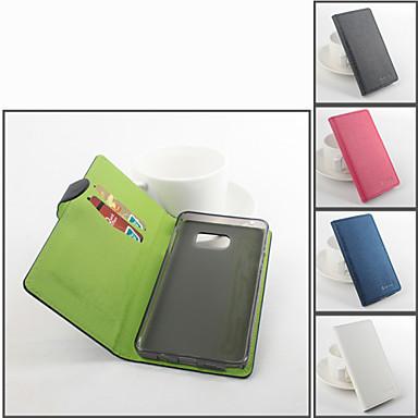 Voor Samsung Galaxy Note Kaarthouder / met standaard / Flip hoesje Volledige behuizing hoesje Effen kleur PU-leer Samsung Note 5