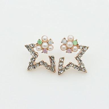 Oorknopjes Kristal Modieus Europees Parel Imitatieparel Strass Verguld 18K goud imitatie Diamond Oostenrijk Crystal Goud Zilver Sieraden