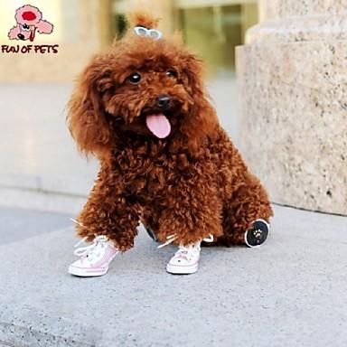 Gato Cachorro Sapatos e Botas Fantasias Casamento Amarelo Vermelho Azul Rosa claro Para animais de estimação