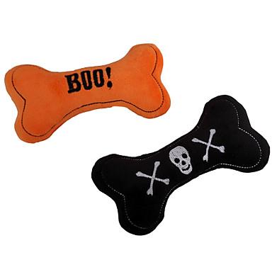 Kattenspeeltje Hondenspeeltje Huisdierspeeltjes kauwspeeltjes Pluche speelgoed piepen Bot Halloween tekstiili Voor huisdieren