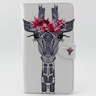 Capinha Para Samsung Galaxy Samsung Galaxy Note Carteira Porta-Cartão Com Suporte Flip Corpo Inteiro Animal Couro Ecológico para Note 4