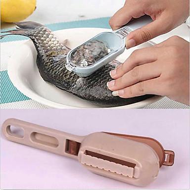 1 pc tampa pele de peixe peixe raspagem escova escala raladores rápido remover dispositivos da cozinha (cor aleatória)