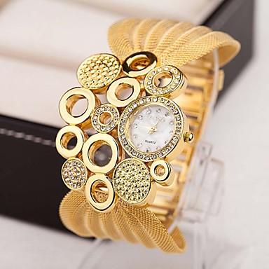 povoljno Ogrlice-satovi-Žene Luxury Watches Sat ogrlica Diamond Watch Kvarc Multi-boji 30 m imitacija Diamond Analog dame Šarm Vintage Moda Elegantno - Pink Zlatan Brown-Gold