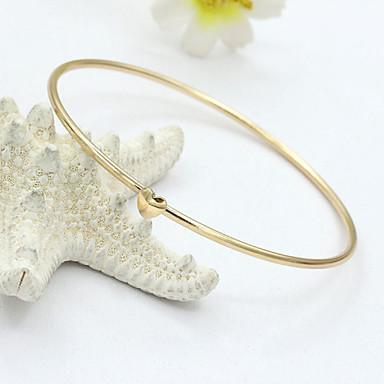 Cristal Bracelete - Strass, Cristal Austríaco, Imitações de Diamante Dourado