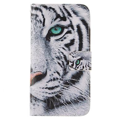Para Samsung Galaxy Capinhas Carteira / Porta-Cartão / Com Suporte / Flip Capinha Corpo Inteiro Capinha Animal Couro PU Samsung J7 / J5