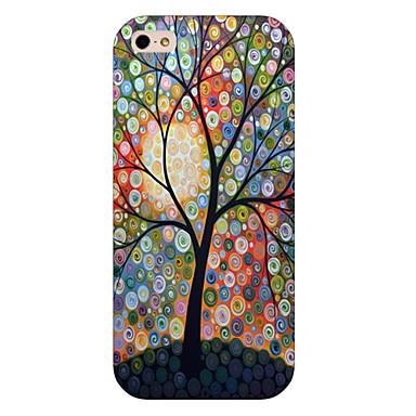 dot telefone padrão de árvore tampa da caixa traseira para iphone5c