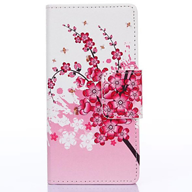 hoesje Voor Huawei P8 Huawei hoesje Portemonnee Kaarthouder met standaard Flip Achterkantje Boom Hard PU-leer voor P8