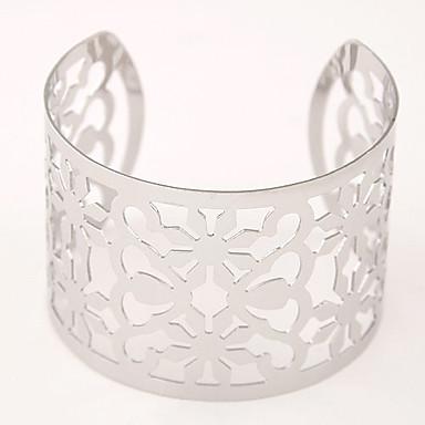Dames Hol Cuff armbanden / Wide Bangle - Armbanden Zilver / Gouden Voor Kerstcadeaus / Feest / Dagelijks