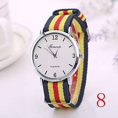 Dames Modieus horloge Kwarts Nylon Band 6 # 7 # 8 # 9 # 10 #