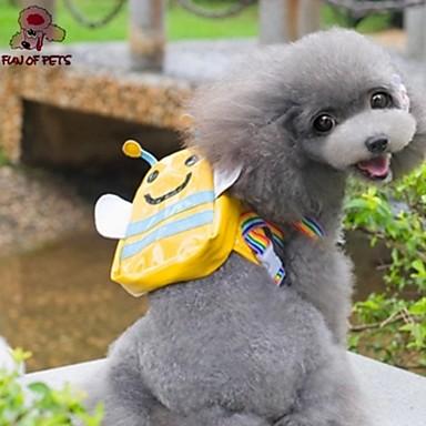 Huisdieren Tas Dragers & Reistassen Hondenkleding Effen Geel Stof Katoen Kostuum Voor huisdieren Klassiek