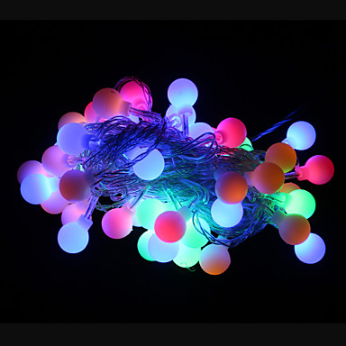 50-led 9m waterdichte outdoor vakantie decoratie rgb licht led string light (ac220v)