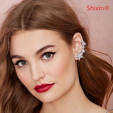 Oor manchetten Modieus Luxe Sieraden Europees imitatie Diamond Legering Zilver Gouden Sieraden Voor Bruiloft Feest Dagelijks Causaal1