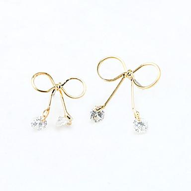Feminino Brincos Compridos Cristal Fashion Europeu Strass Chapeado Dourado 18K ouro Imitações de Diamante Cristal Austríaco Jóias Para