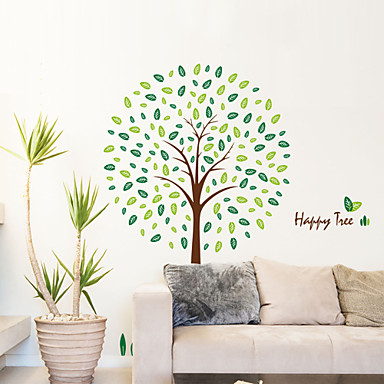 estilo decalques adesivos de parede parede parede pvc felizes da árvore adesivos