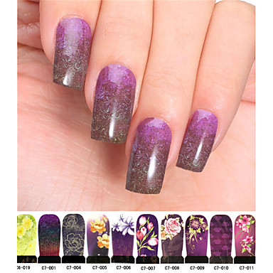 10 Nagelkunst sticker Bloem Schattig Bruiloft make-up Cosmetische Nagelkunst ontwerp