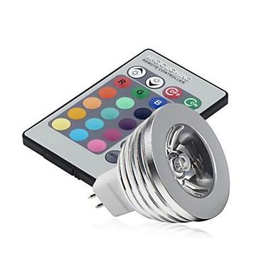 HRY 2.5W 250-300 lm GU5.3(MR16) Luz de LED para Cenários MR16 1 leds LED de Alta Potência Regulável Decorativa Controle Remoto RGB DC 12V