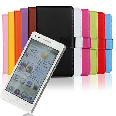 estilo carteira de couro pu capa de corpo inteiro com slot para cartão para suporte e Huawei Ascend G6 (cores sortidas)