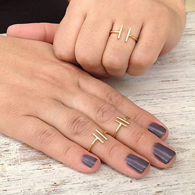 Dames Statement Ring - Legering Eenvoudige Stijl, Modieus, Open One-Size Goud / Zilver Voor Feest