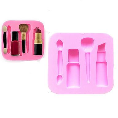 bakvormen siliconen make-up pen bakvormen voor fondant chocolade taart (willekeurige kleuren)