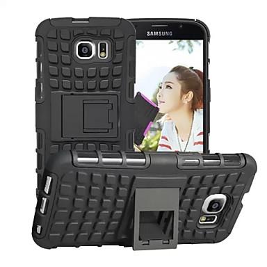 Недорогие Чехлы и кейсы для Galaxy S6-Кейс для Назначение SSamsung Galaxy S6 edge / S6 / S5 Защита от удара Кейс на заднюю панель броня ПК
